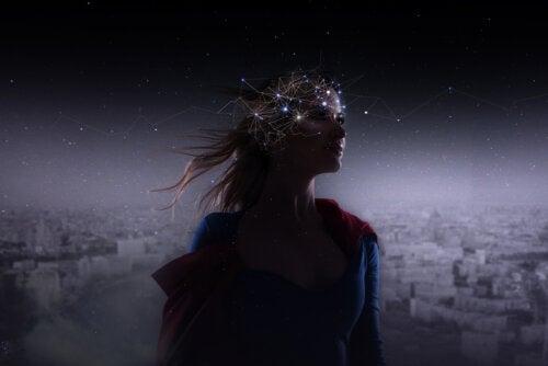 Conexiones cerebrales de una adolescente.