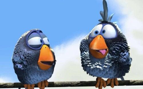 Pájaros protagonistas del corto For the Birds.