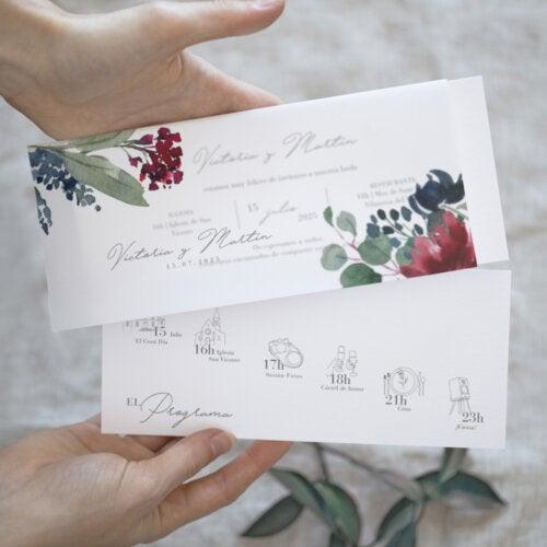 ¿Cómo elegir tus invitaciones de boda?