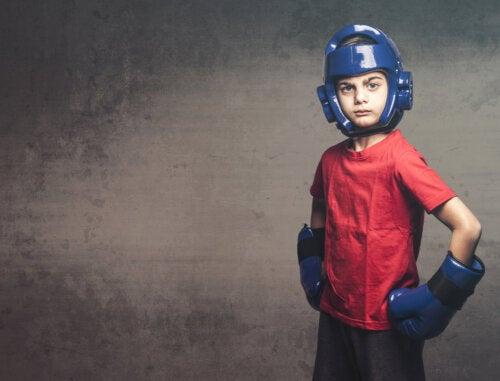 Niño boxeador.