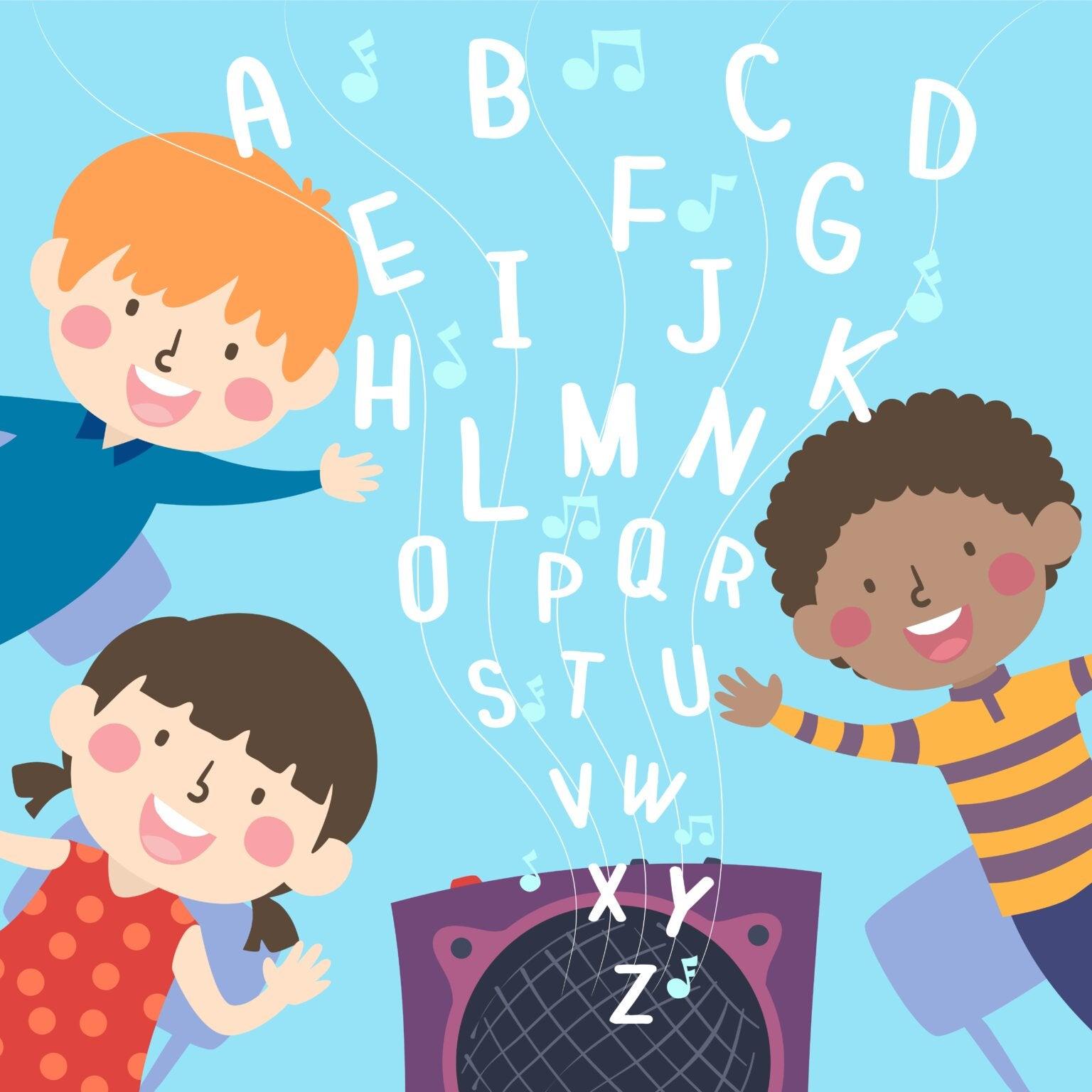 Niños escuchando canciones en inglés para aprender el idioma.