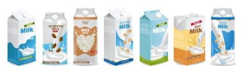 Tipos de leche no lácteas.