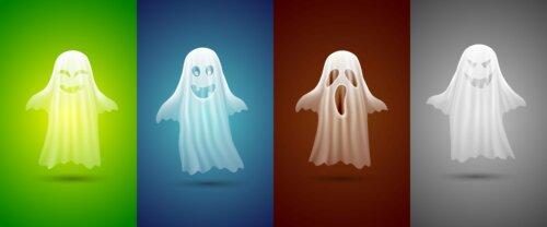 Fantasmas de colores.