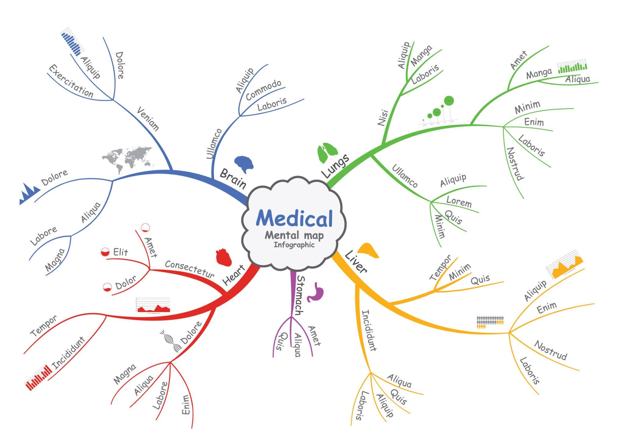 Mapa mental sobre medicina.