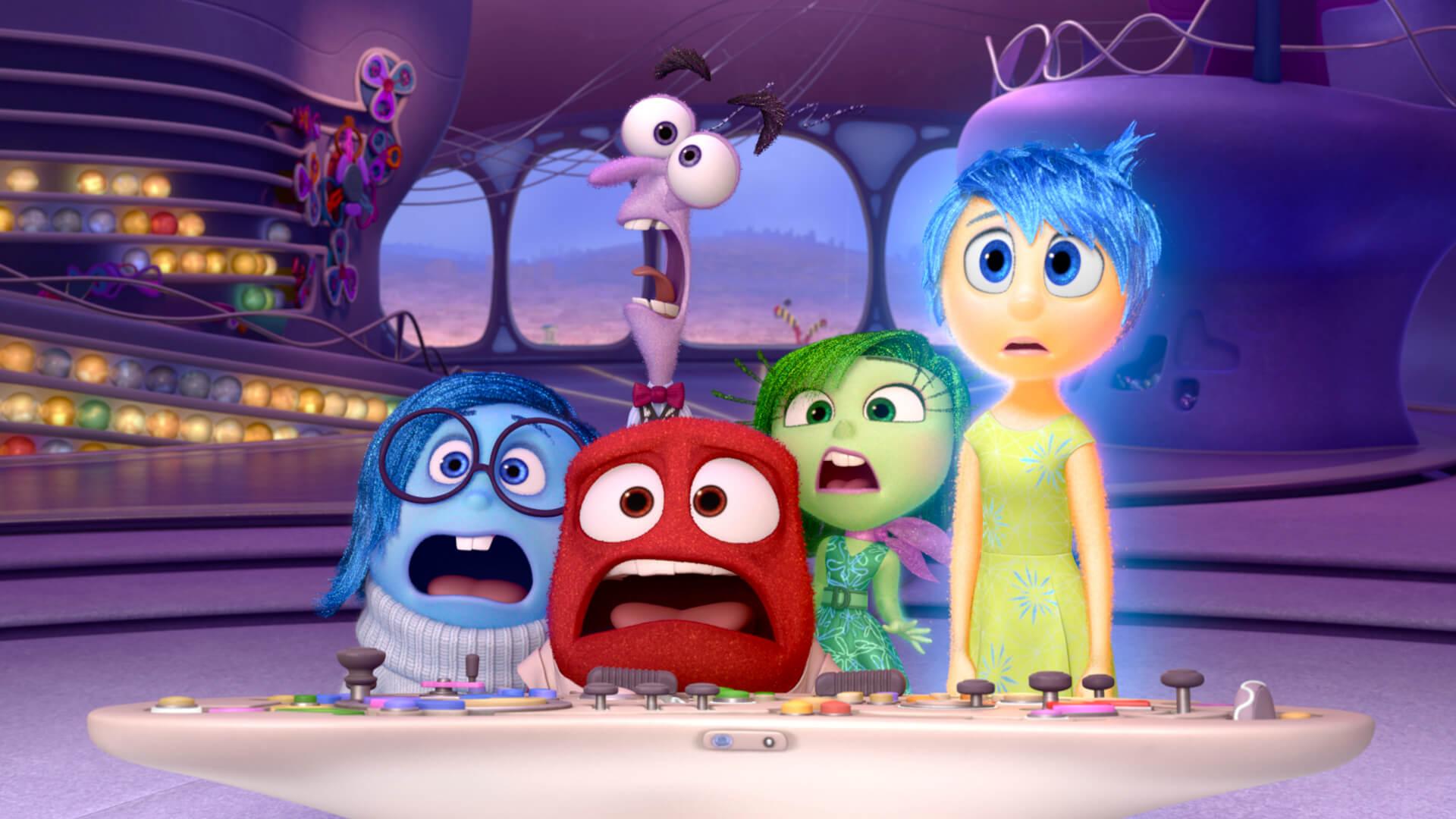 Emociones protagonistas de la película Del Revés.