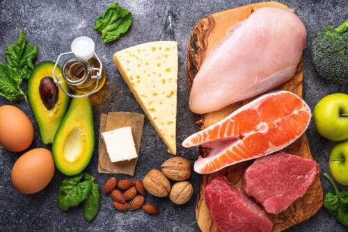 Algunos alimentos de la dieta cetogénica para niños con epilepsia.