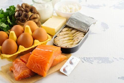 Alimentos con vitamina D para comer durante el confinamiento.