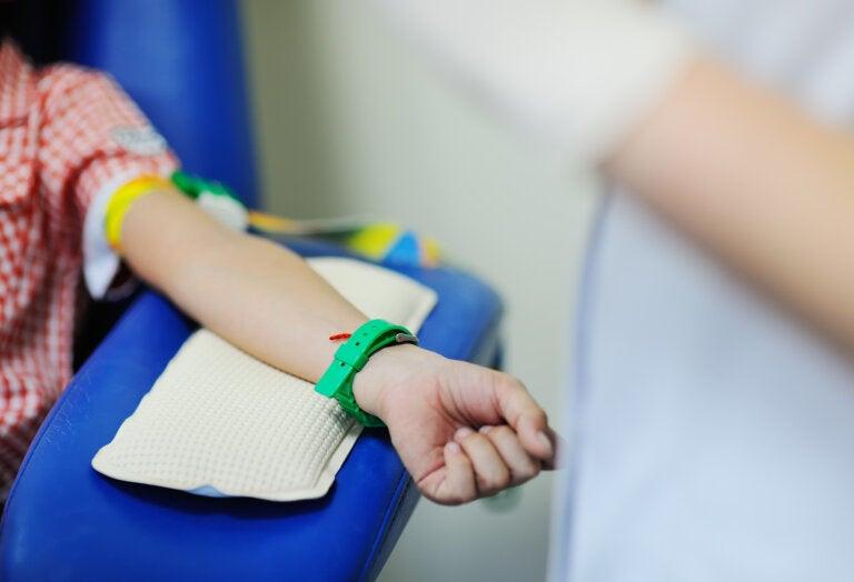 Análisis de sangre en niños