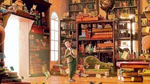 Imagen del corto para fomentar la lectura en niños.