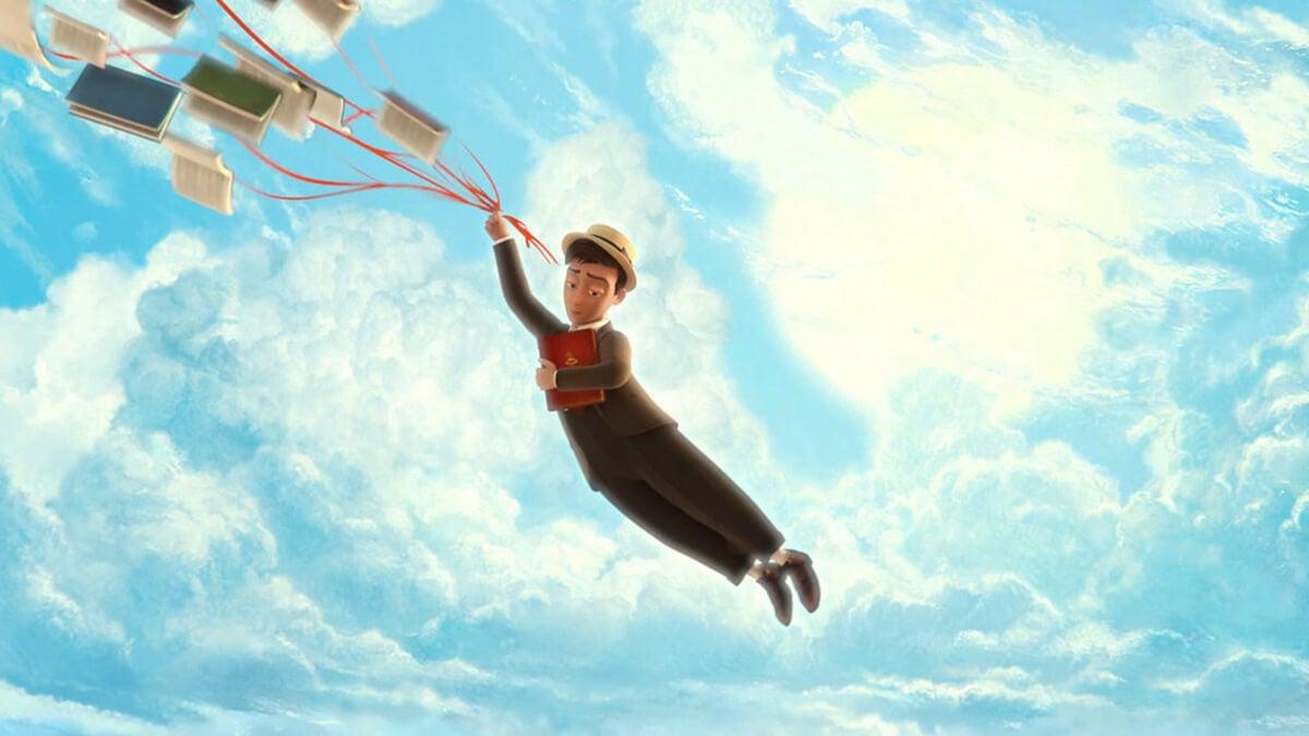 Los fantásticos Libros Voladores del Sr Morris Lessmore, corto para fomentar la lectura en niños.