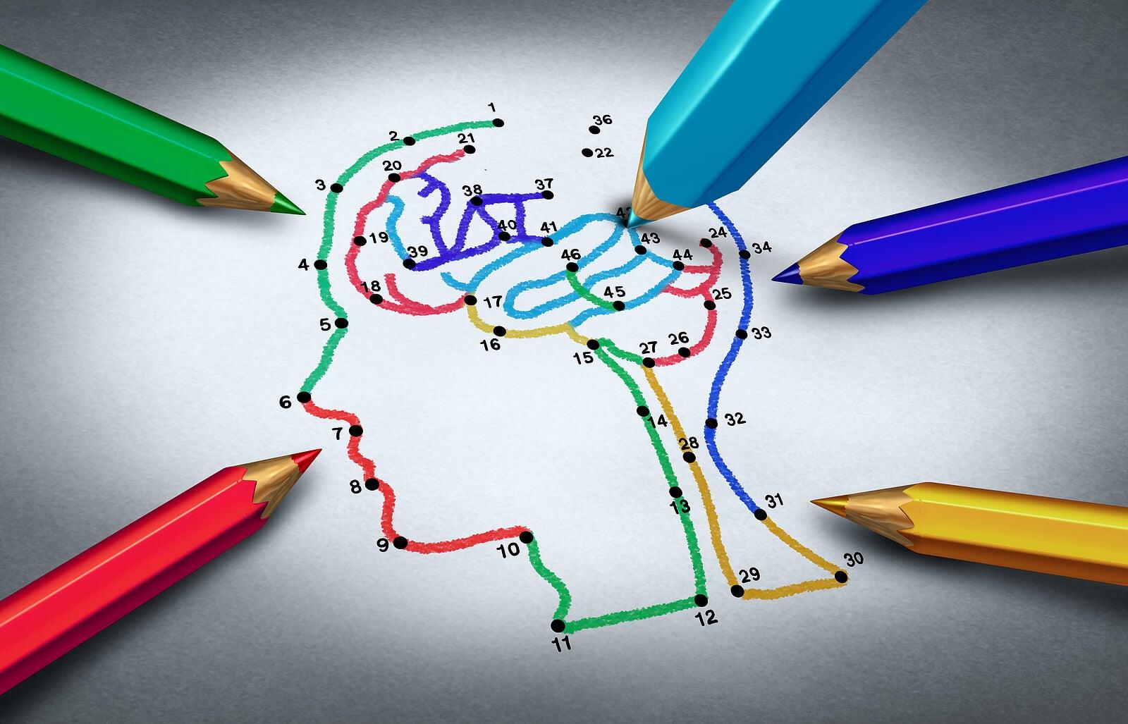 Dibujo para unir puntos, uno de los juegos de papel y lápiz para niños