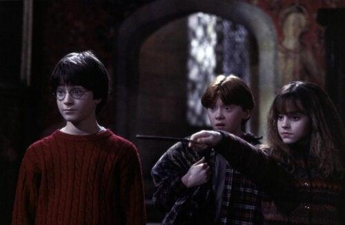 Protagonistas de Harry Potter y la piedra filosofal.