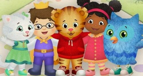 Protagonistas de Daniel Tigre y su mundo, una de las series educativas para niños de infantil.