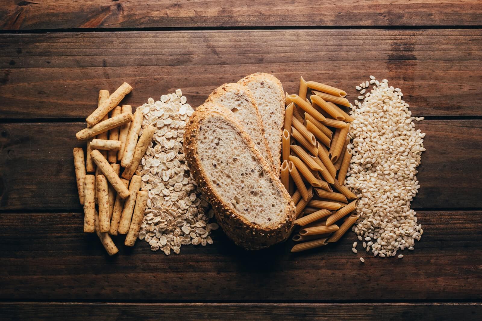 Pasta, avena, pan, arroz integrales.