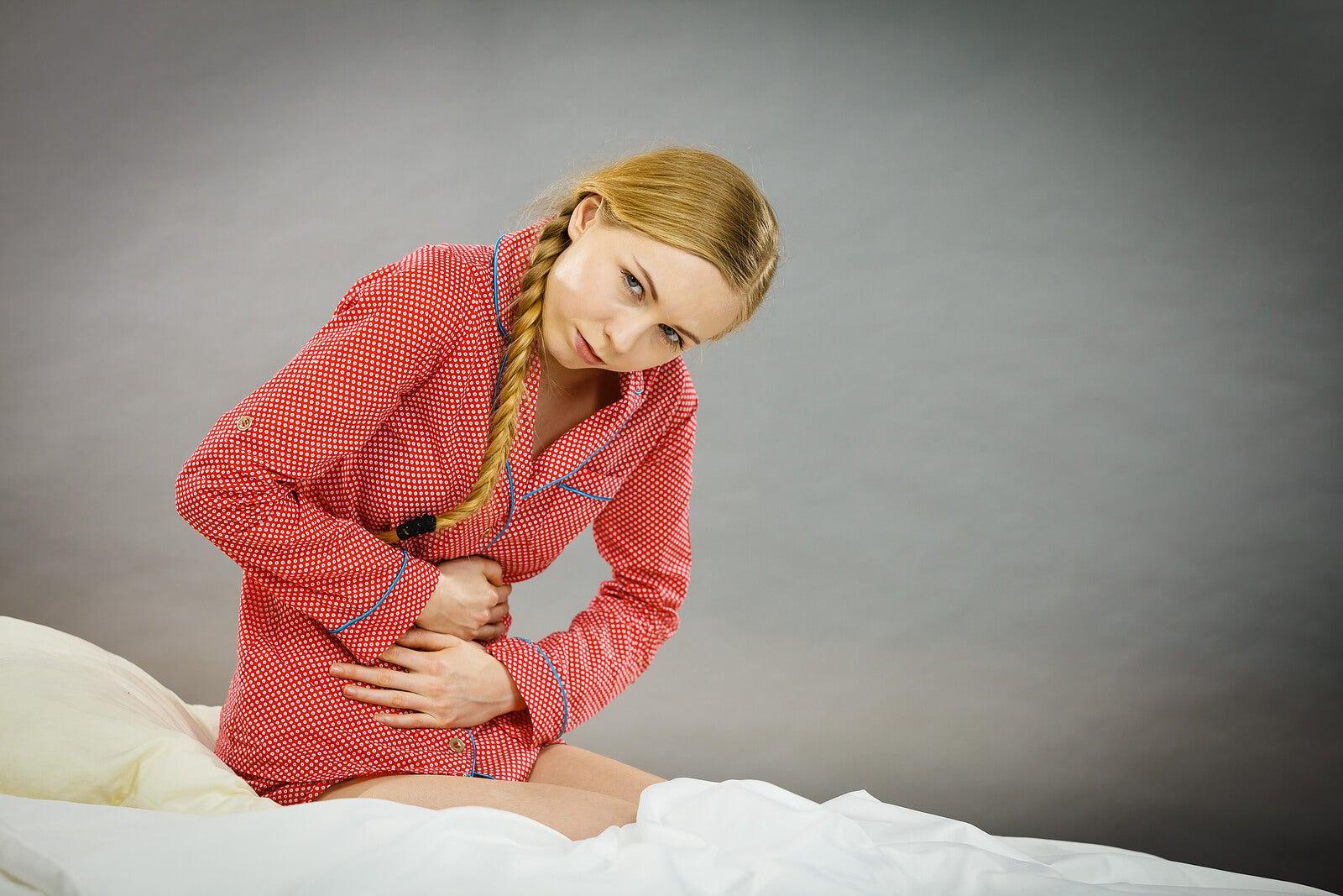 Adolescente con dolores menstruales.