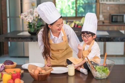 Actividades de cocina para niños de 3 a 6 años