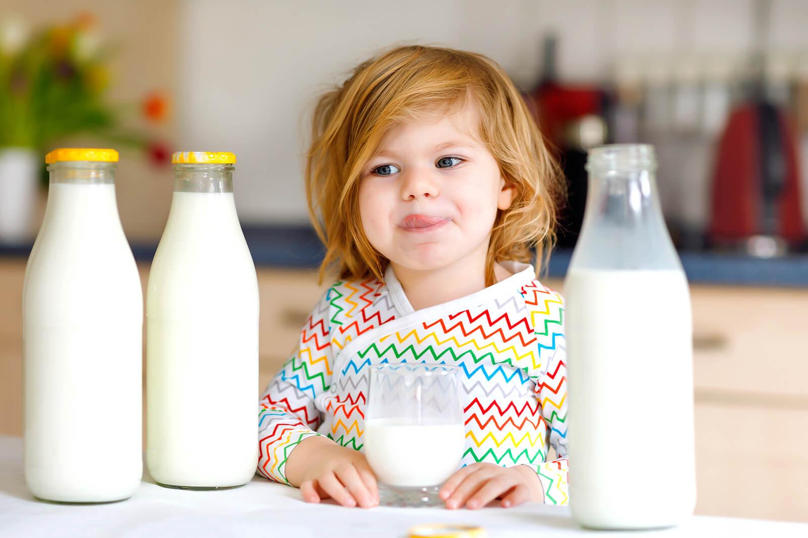 Alergia a la proteína de leche de vaca en niños