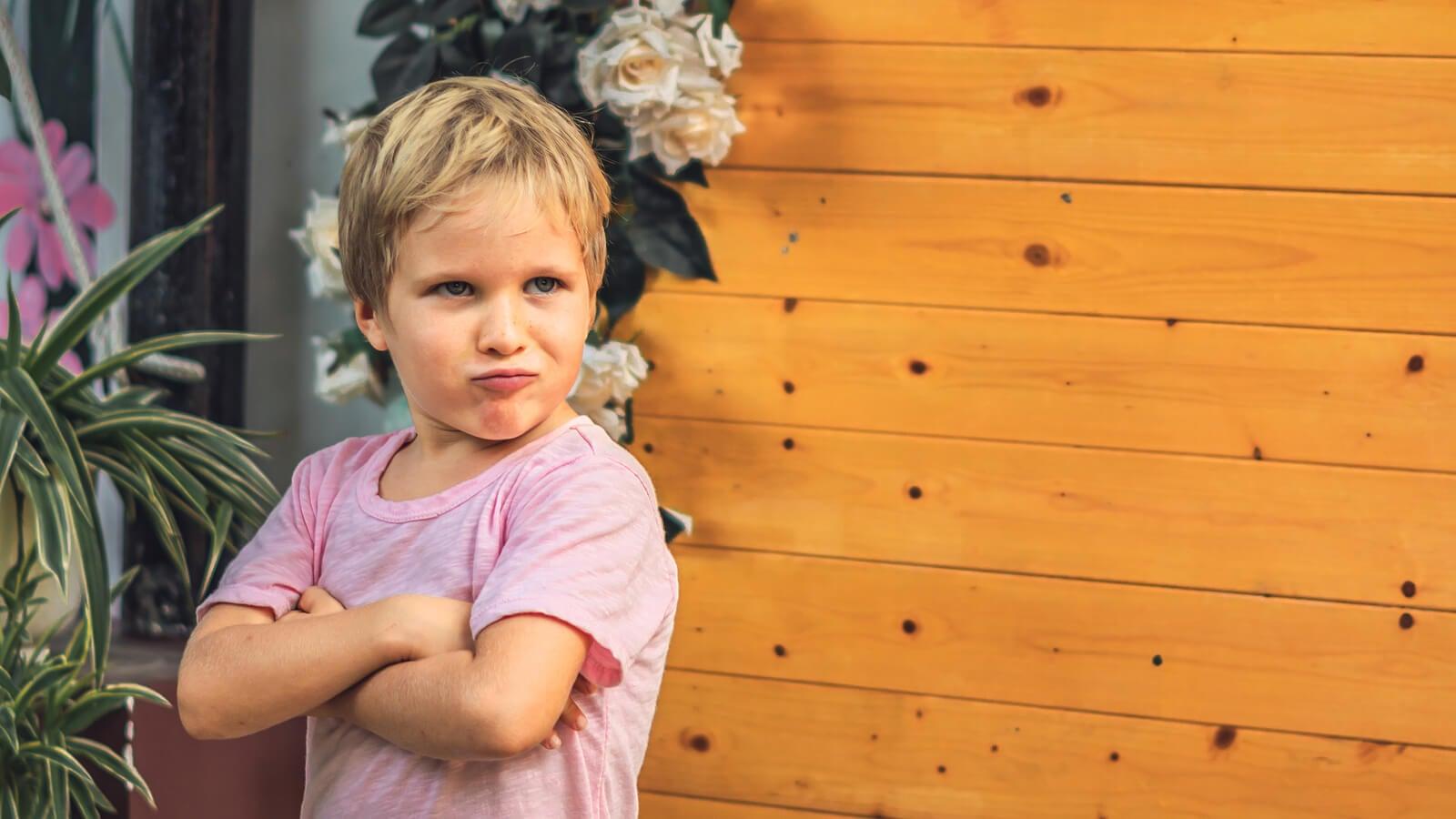 Niño con algunas características de la personalidad que se van a mantener cuando sea adulto.