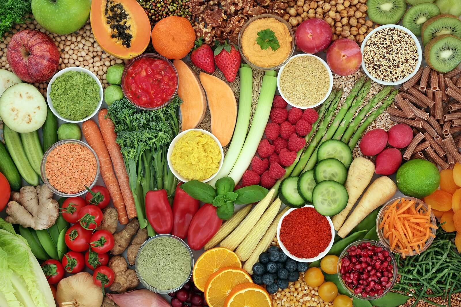 Alimentos recomendados en la dieta para la endometriosis.