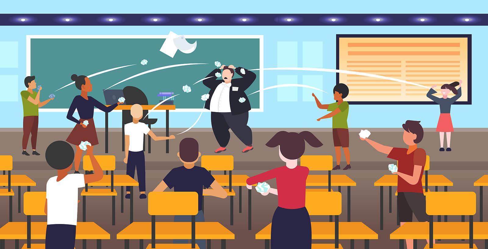 Un profesor sufre bullying por parte de sus alumnos.