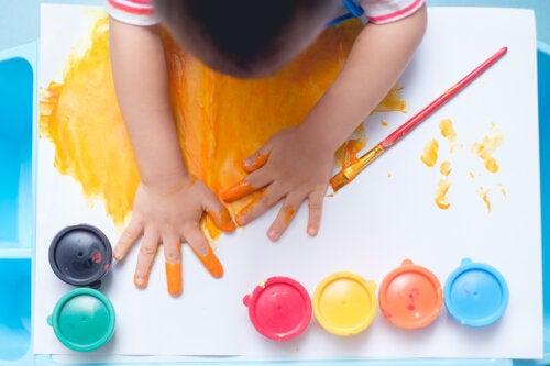 Ideas para pintar con los dedos
