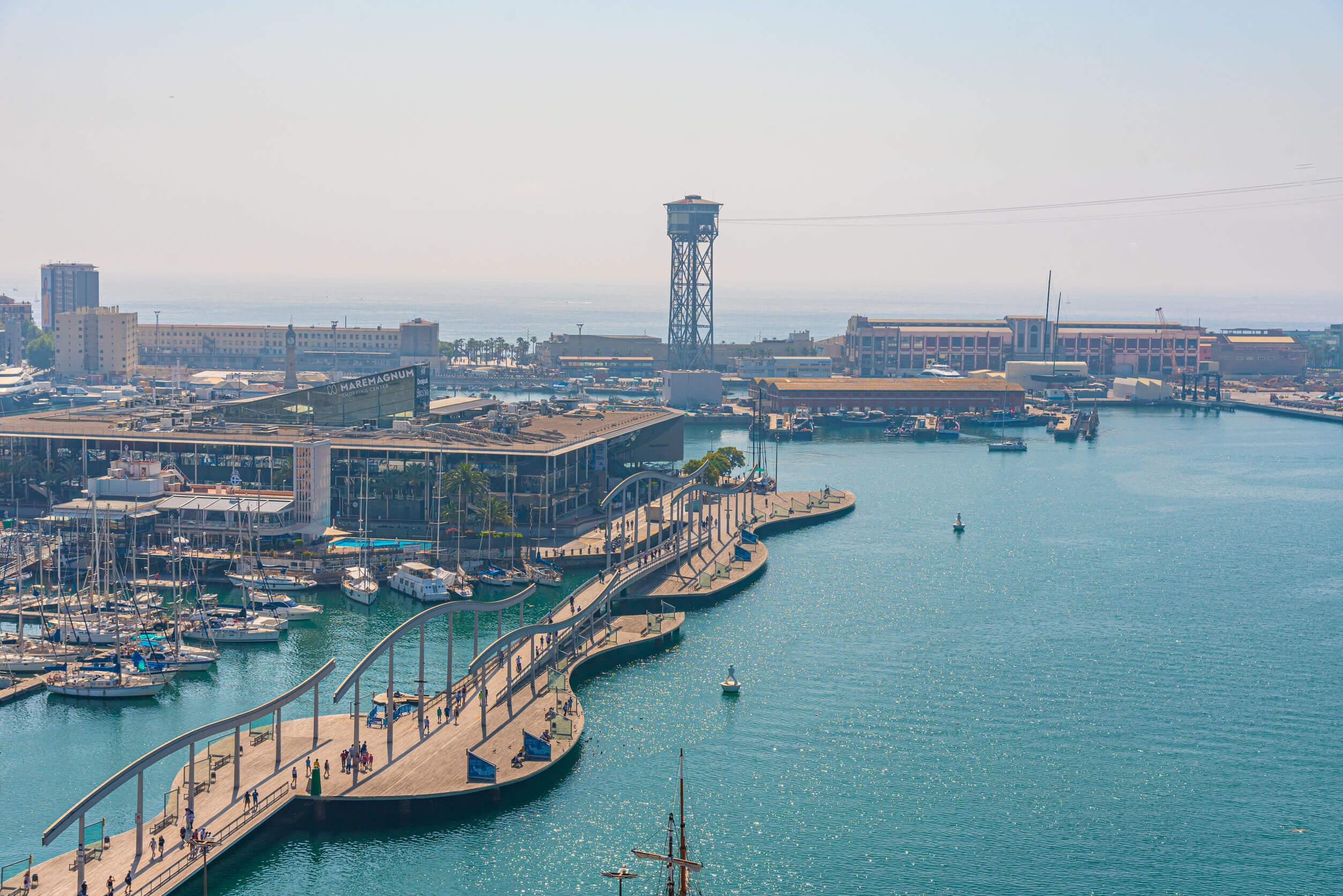 Barcelona desde el mar.