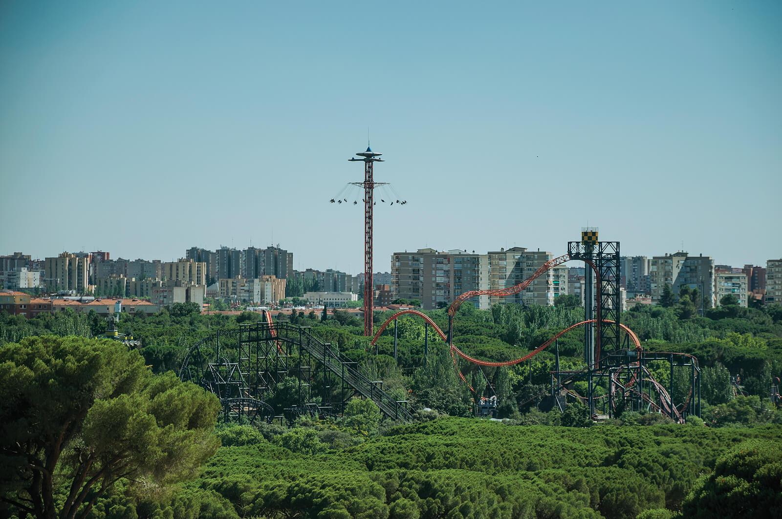 Parque de atracciones de Madrid, uno de los sitios ideales para ir con niños.