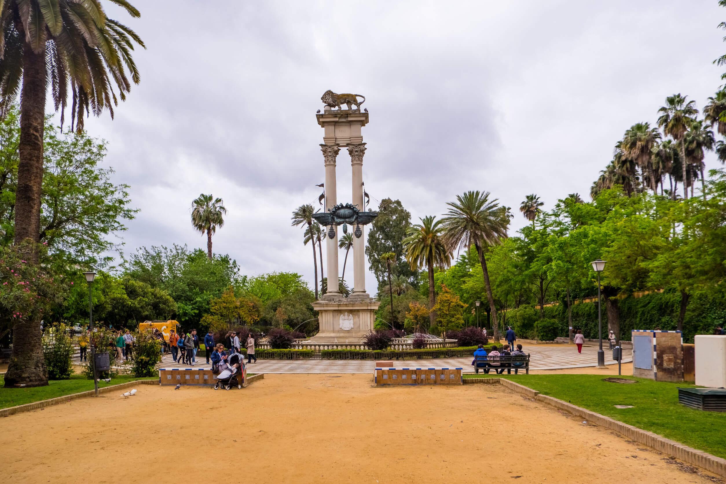 Parque de María Luisa, en Sevilla.