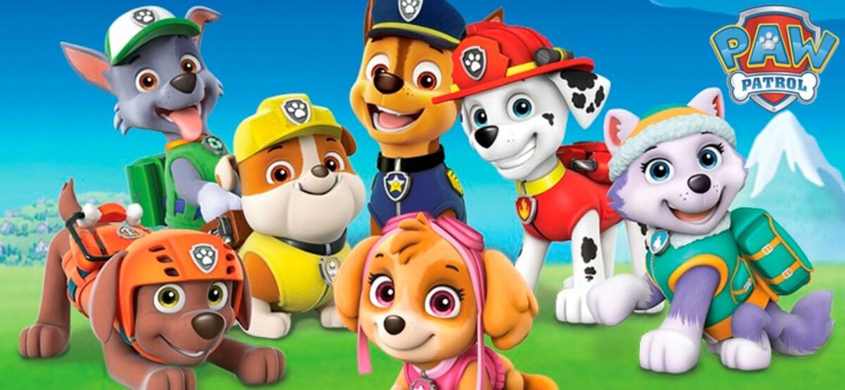 Protagonistas de La Patrulla Canina.