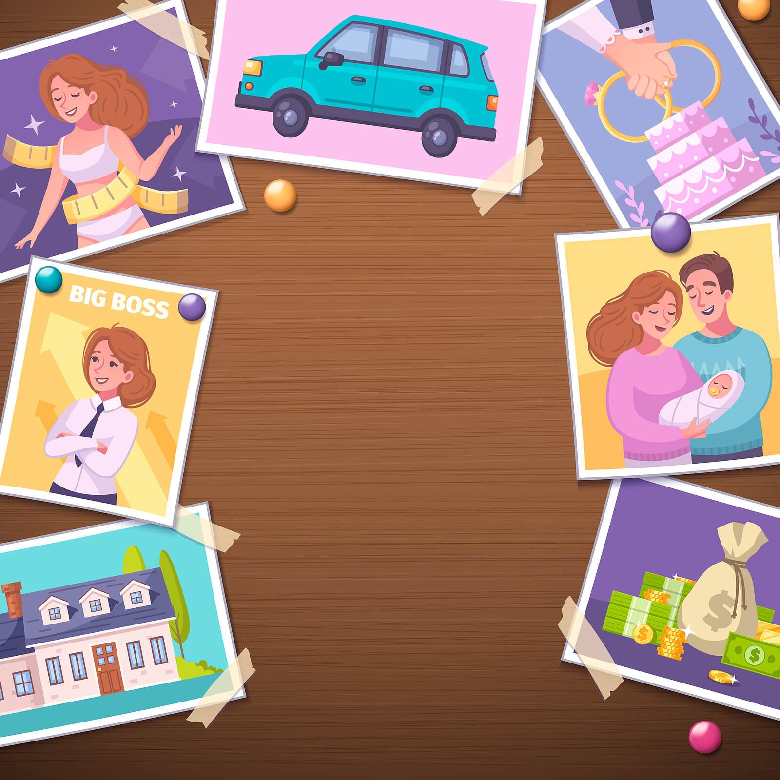 Tablero de visión: ¿qué es y cómo hacer uno con los niños?