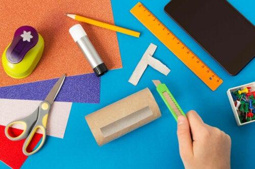 6 manualidades hechas con rollos de papel higiénico