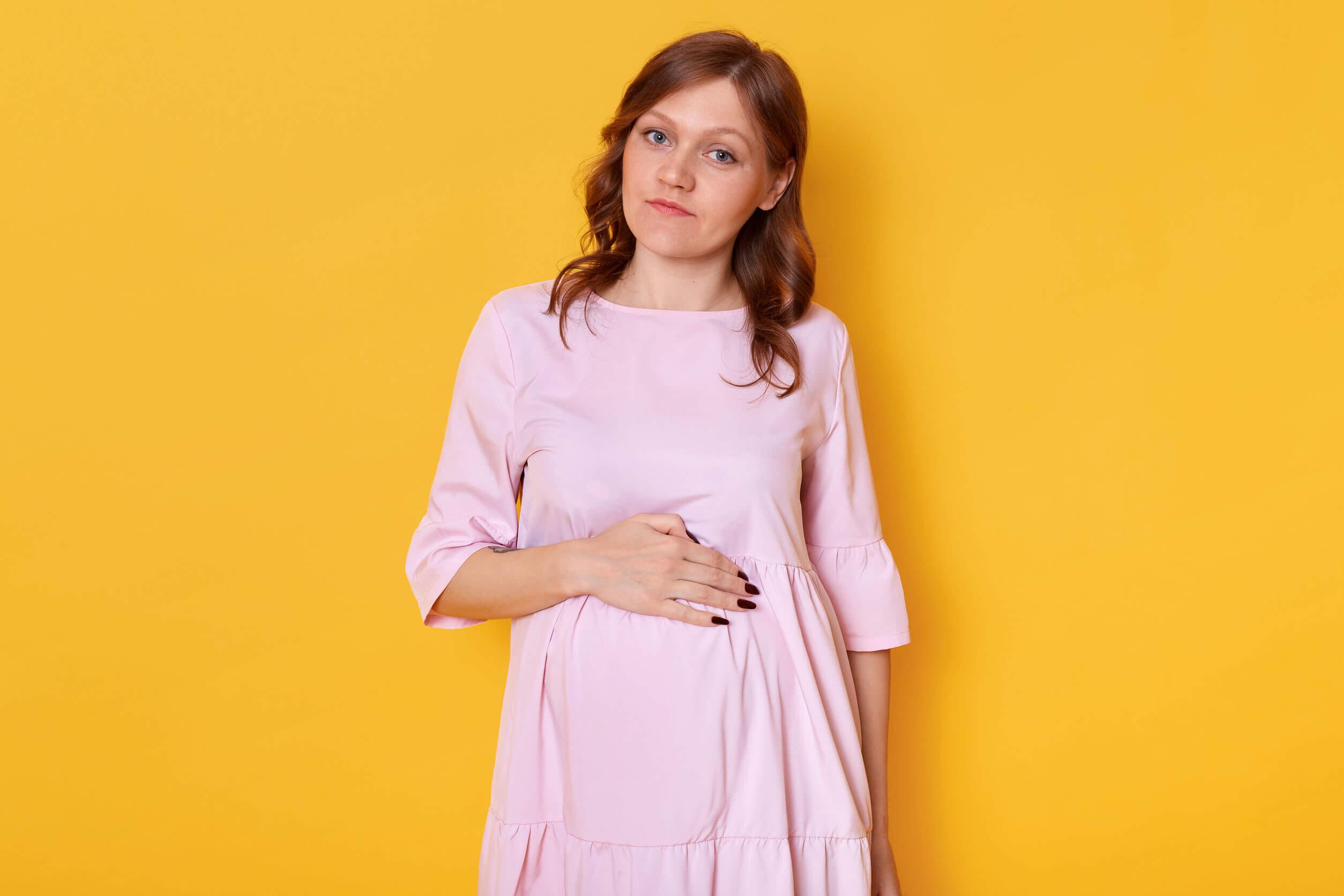 Mujer con piel atópica en el embarazo.