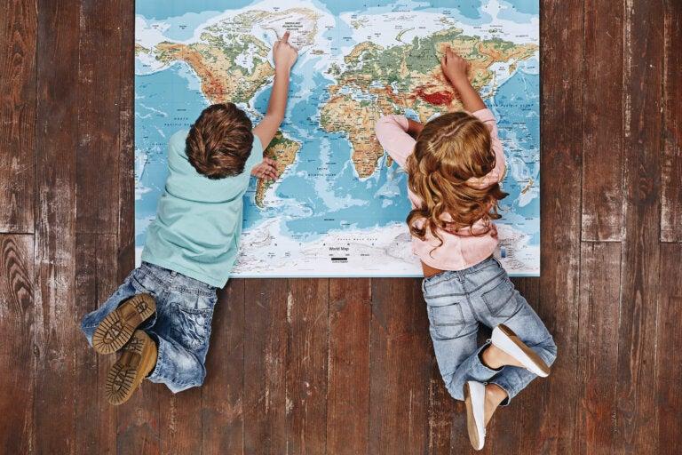 Mapamundi casero para niños