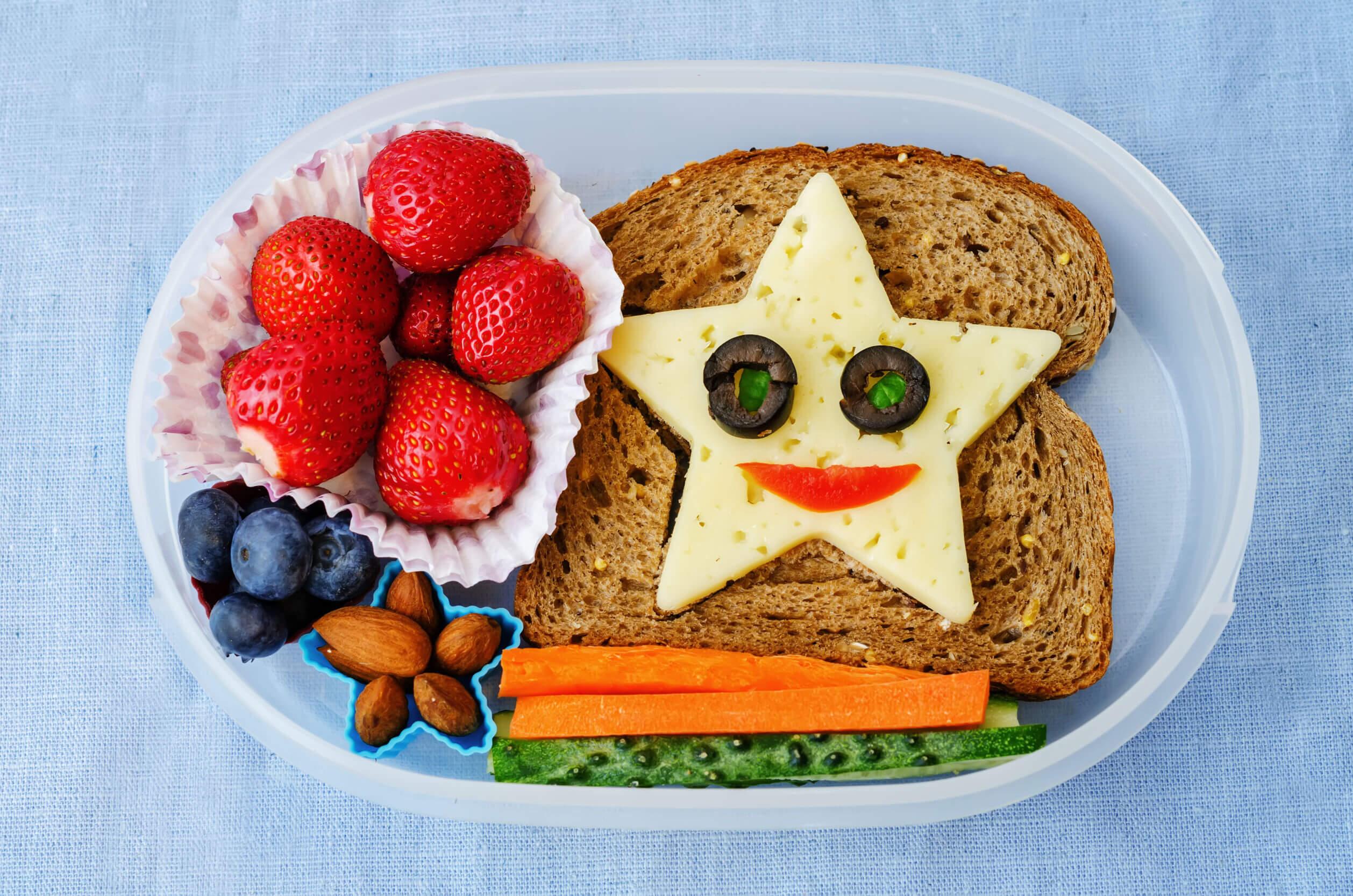 Merienda saludable para niños.