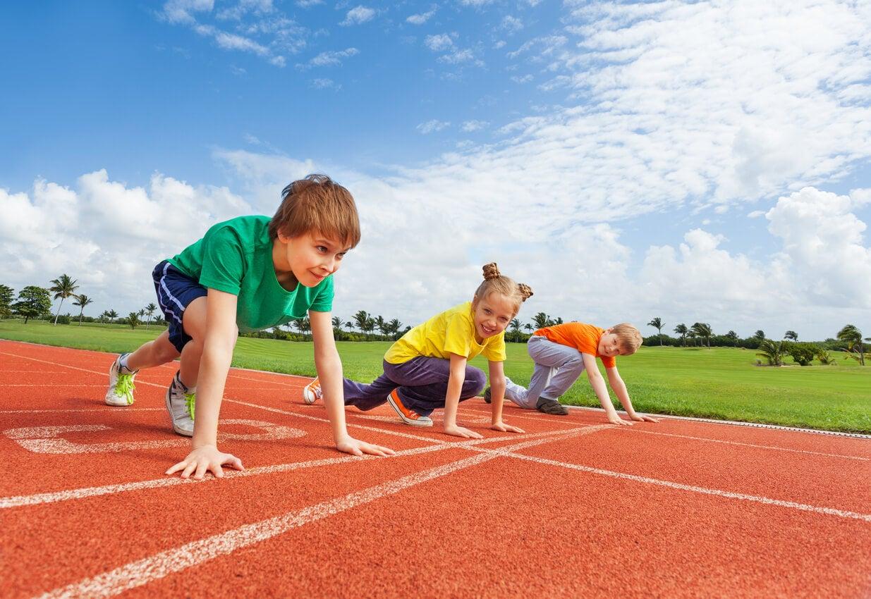 El atletismo es uno de los mejores deportes para niños nerviosos.