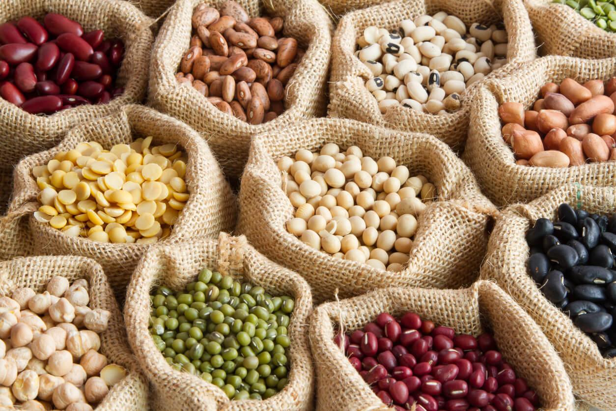 Sacos de legumbres para evitar la falta de vitaminas.