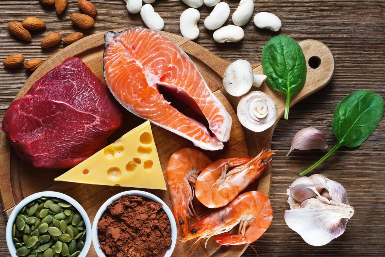 Alimentos ricos en zinc para la dieta de los niños.