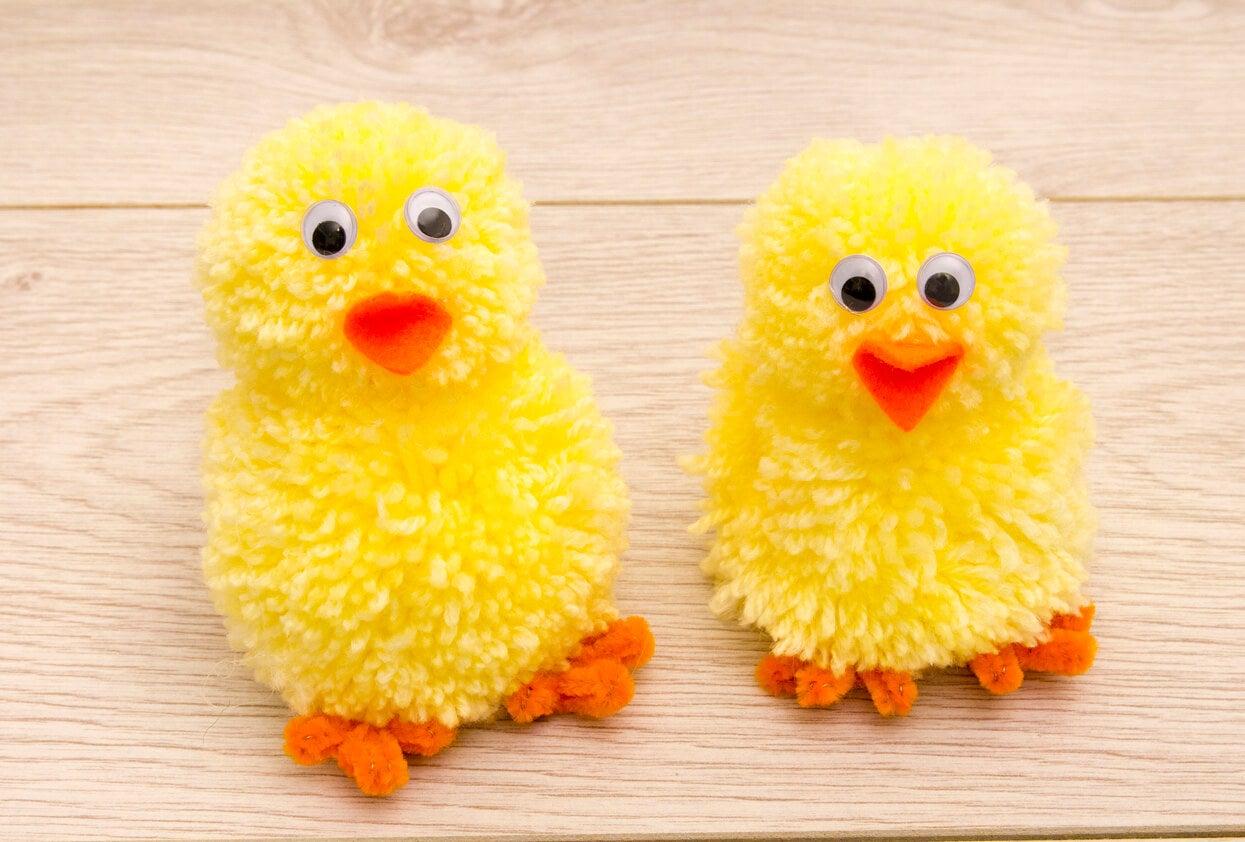 manualidad lana pompon nino infantil hazlo tu mismo en casa