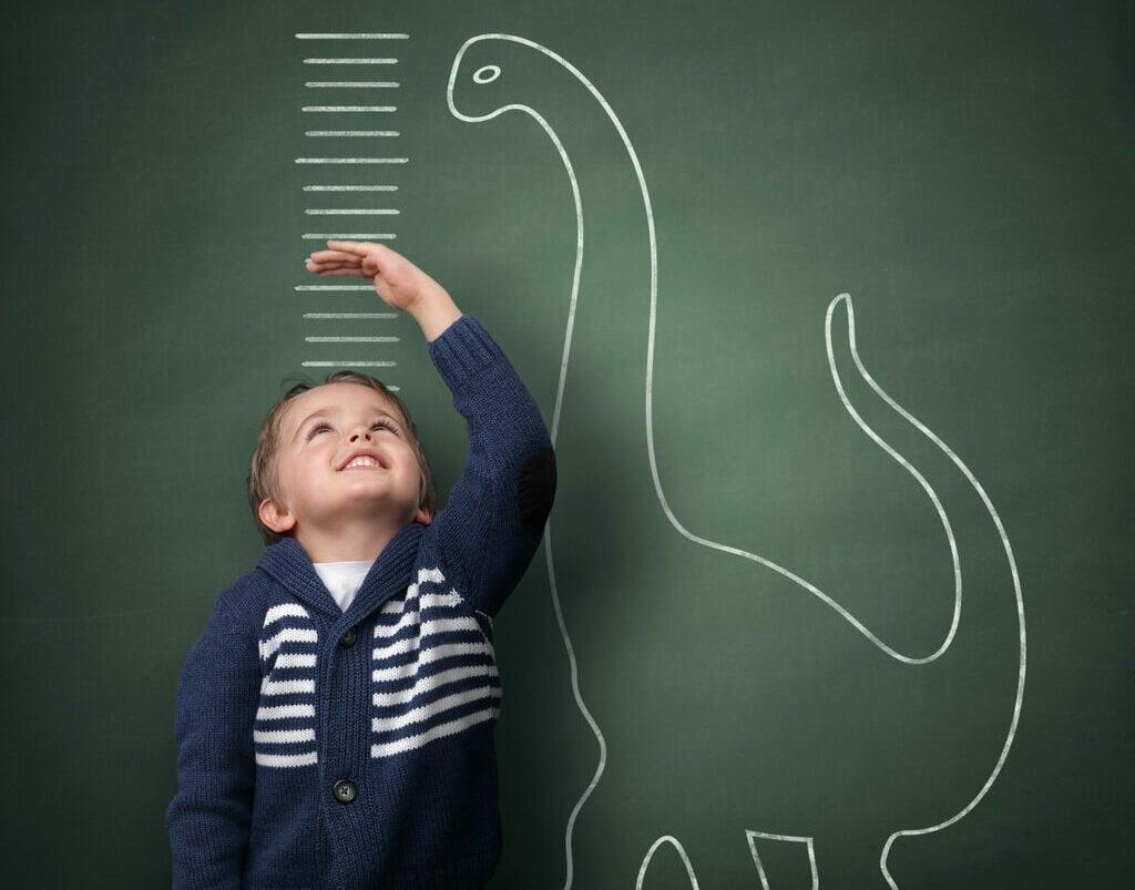 talla altura nino crecimiento estatural tabla comparacion dinosaurio grafico