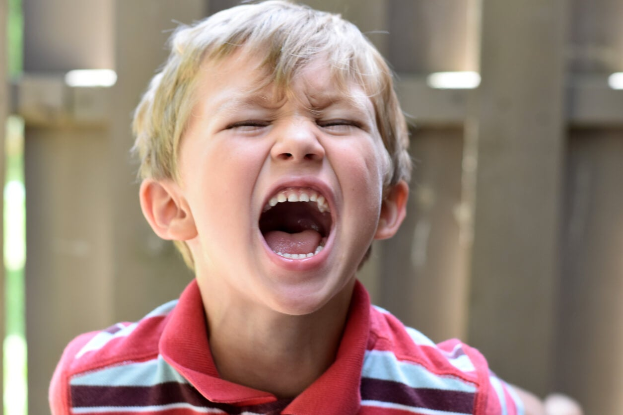 Un enfant qui crie.