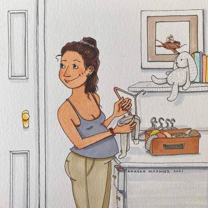 préparatifs pour la maternité