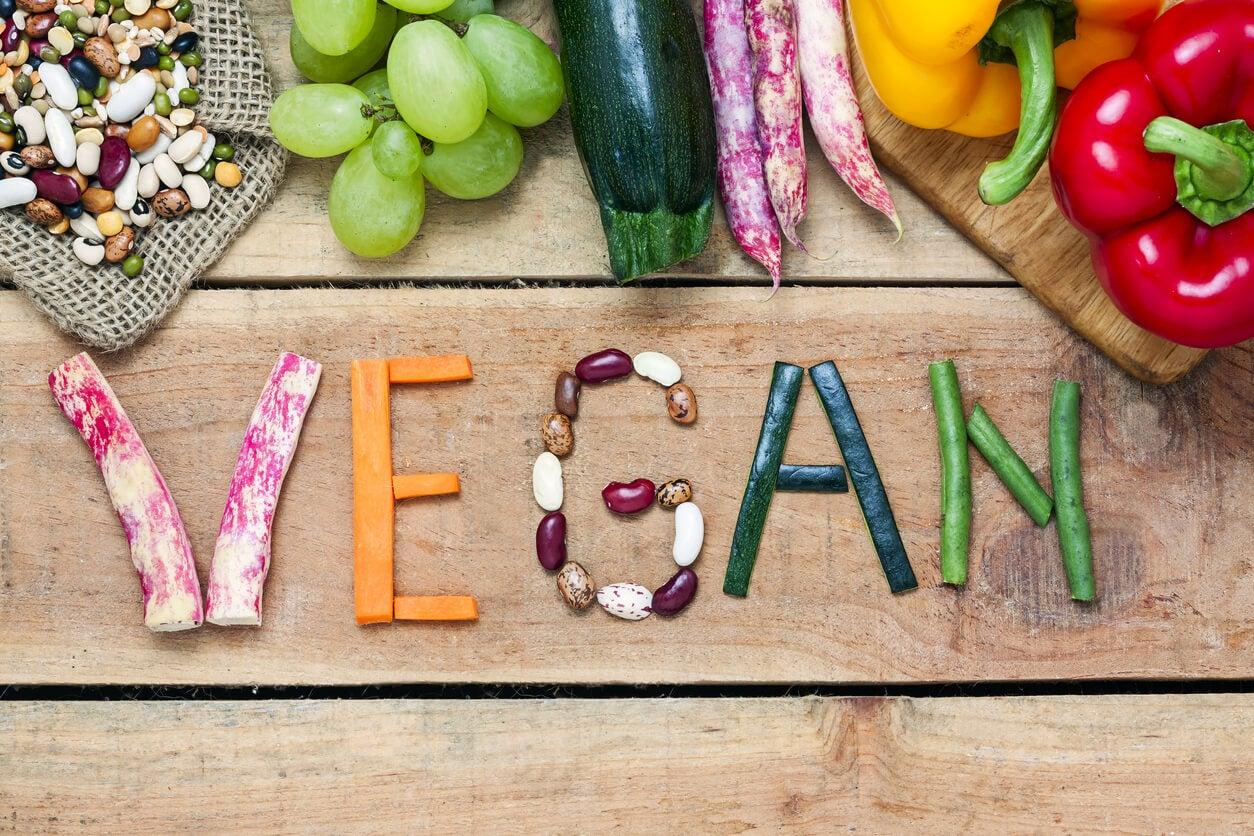 concepto de dieta vegana vegetariana restrictiva no omnivora