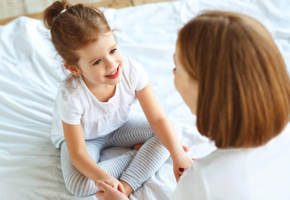 méthode de la rose et de l'épine entre une fille et sa maman