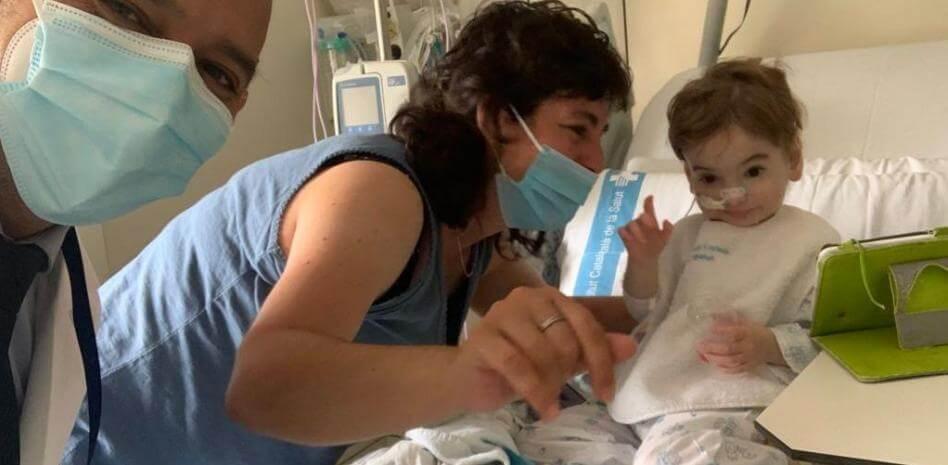 La recuperación del bebé después del trasplante de pulmones
