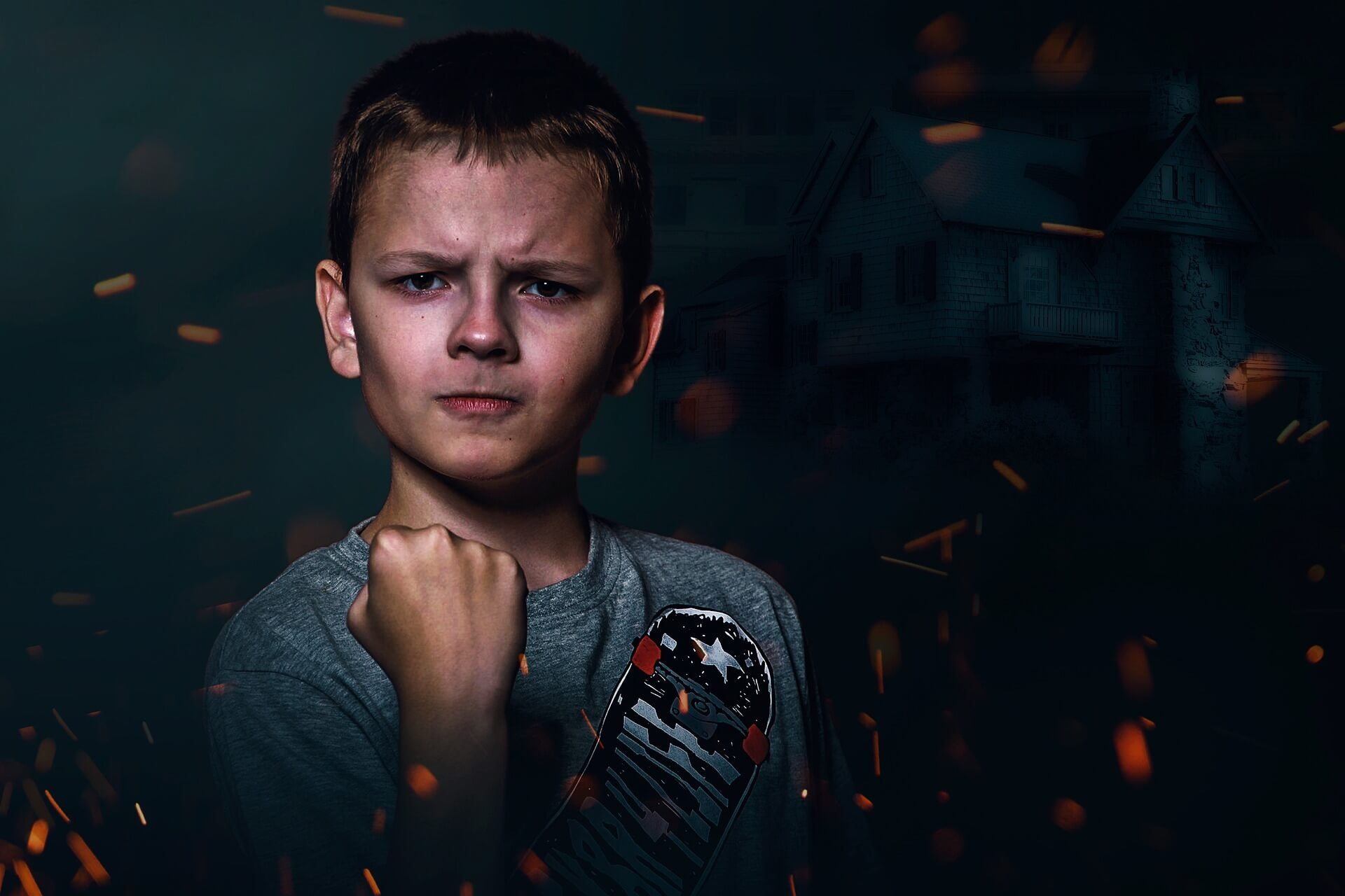 Joven molesto: escalera de las emociones