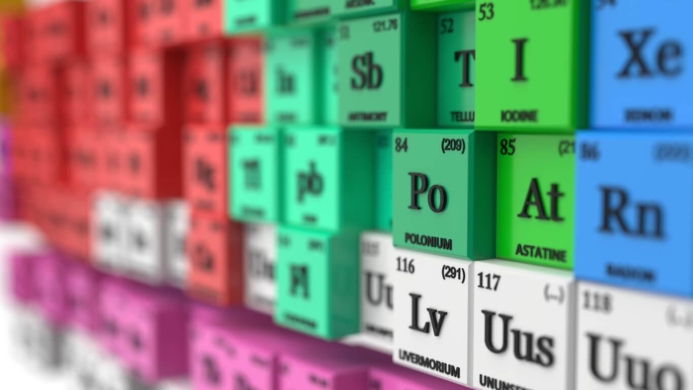 quimica tabla periodica de elementos en 3 dimensiones 3D